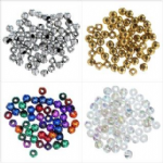 Plated Beads: 4mm - Full Colour Range - Choice of Pack Size